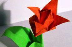 Как сделать оригами тюльпан своими руками