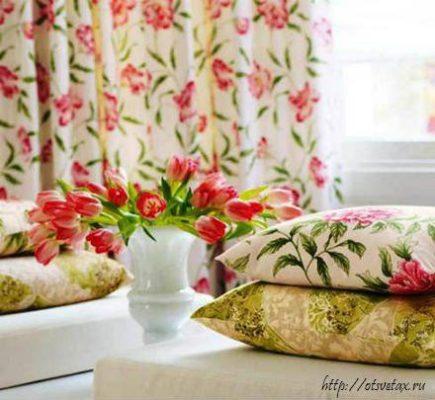 цветы в дизайне интерьера спальни