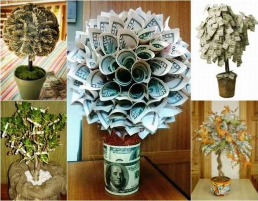 денежное дерево своими руками