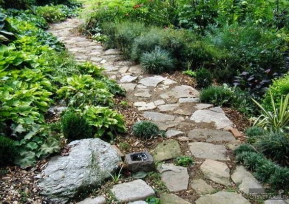 садовые дорожки своими руками с малыми затратами из пластика