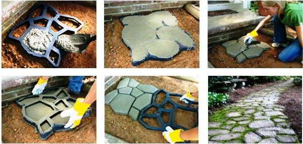 Садовая дорожка своими руками состав бетона 8