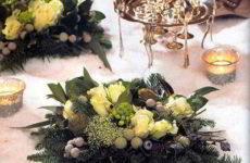 Цветы и свечи на вашем новогоднем столе