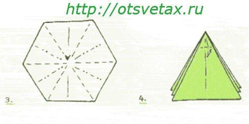 нарцисс оригами схема