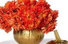 Ваза для цветов из тыквы