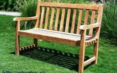 Садовая скамейка из дерева своими руками для дачи