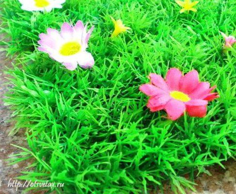 искусственный зелёный газон