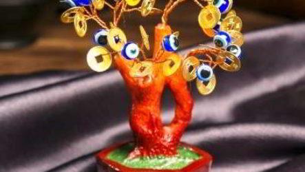 Денежное дерево из бисера, монет, купюр своими руками