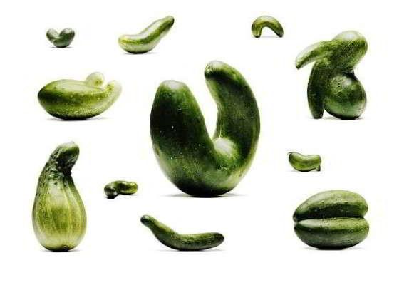 деформированные плоды огурцов