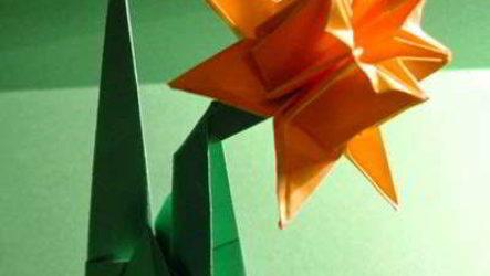Как сделать оригами нарцисс самостоятельно