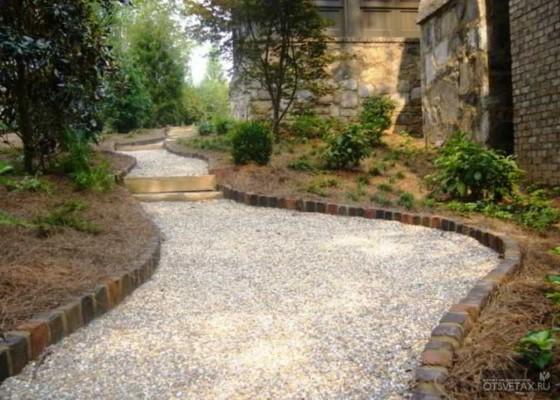 садовые дорожки своими руками с малыми затратами фото
